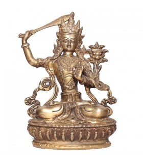 Statue of Manjushree With Sword in Hand