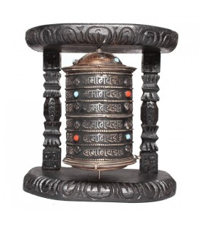 Semi-precious Stone Studded Prayer Wheel