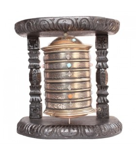 Semi-precious Stone Studded Prayer Wheel