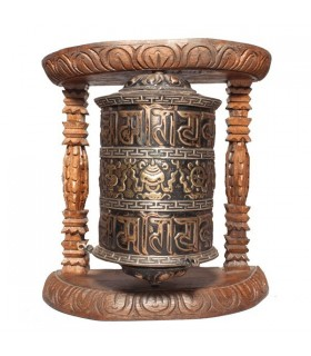 Wall Prayer Wheel with Mystic Symbols