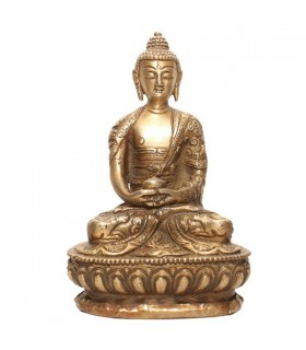Gold Plated Statue of the Amitabha Buddha