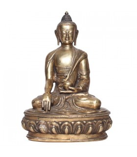 Dark Coloured Statue of the Akshobhya Buddha