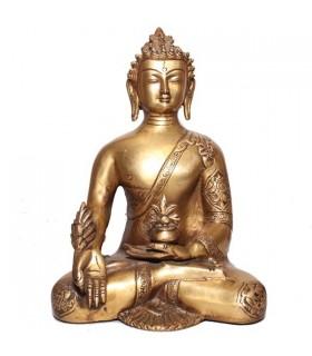 Gold Coloured Statue of the Akshobhya Buddha