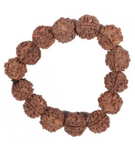 Stretchable Five Mukhi (Faced) Rudraksha Bracelet