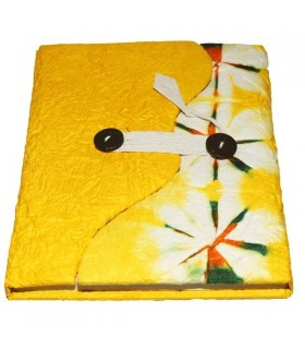 Yellow floral covered notebook