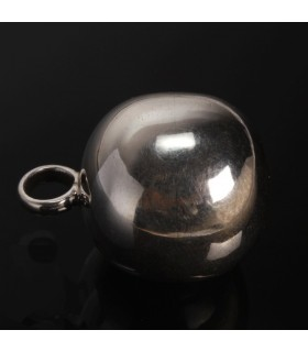 Silver Cannon Ball Pendant