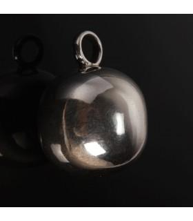 Silver cannon ball pendant