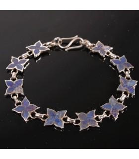 Scarlet floral bracelet