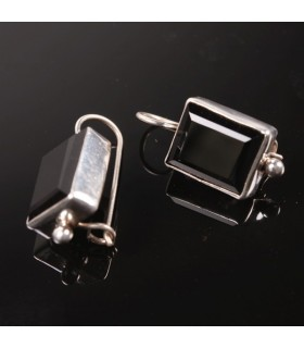 Smokey Topaz Box Earrings