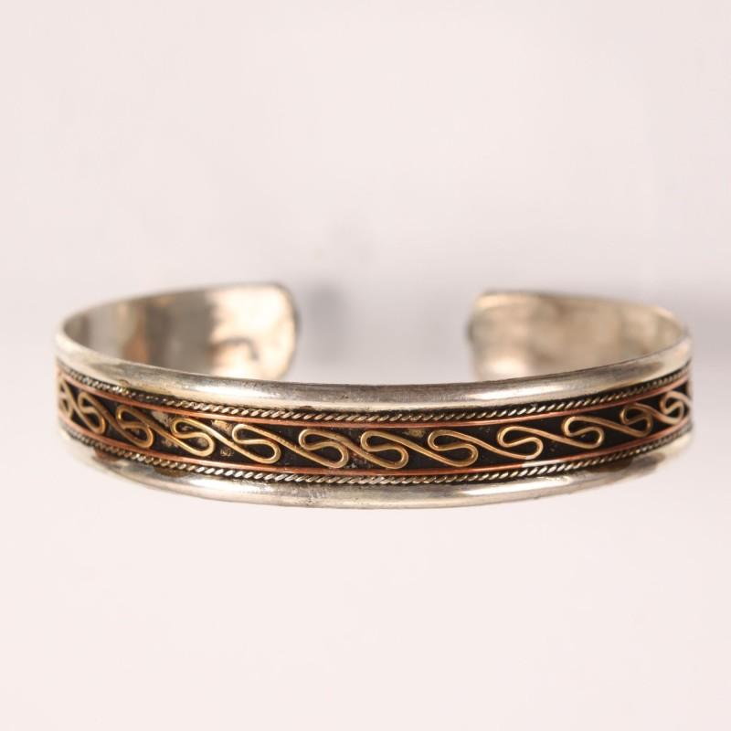 Three metal cuff bracelet