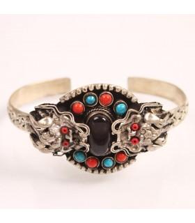 Tibetan dragon cuff bracelet