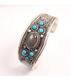 Labradorite open cuff bracelet