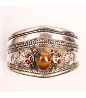 Tiger eye stone cuff bracelet