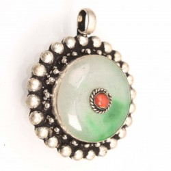 Green stone hand crafted Amulet