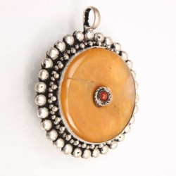 Honey Amber stone Amulet