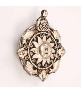 Spiritual sun crafted pendent