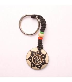 Circular Om Key Ring