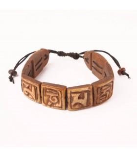 Tibetan Mantra Carved Bracelet