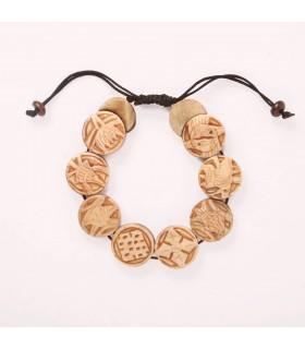 Embossed Tibetan Mantra Carved Bracelet