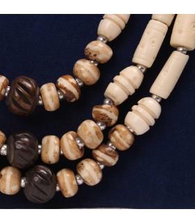 Three Strand Bone Necklace