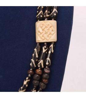 Bohemian Three Layered Bone Necklace