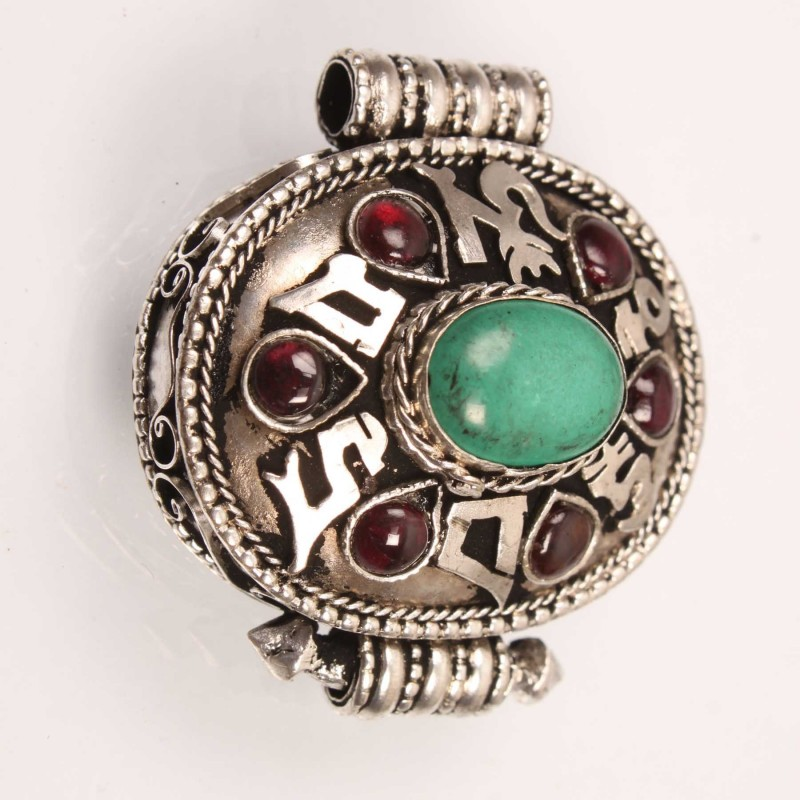 CORAL RED STONE AMULET