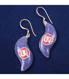 PETAL SHAPED TIBETAN EAR RINGS