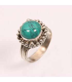 Turquoise Stone Finger Ring
