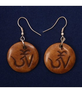 Om Crafted Ear Rings