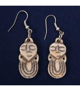 Daruma Japanese doll earrings