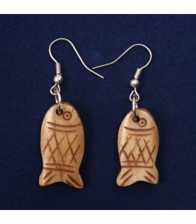 Tibetan Fish Ear Rings