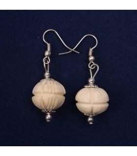 Bone marvel earrings