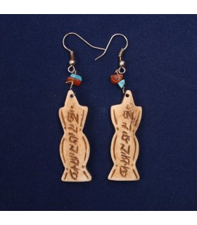 Tibetan Mantra crafted earrings