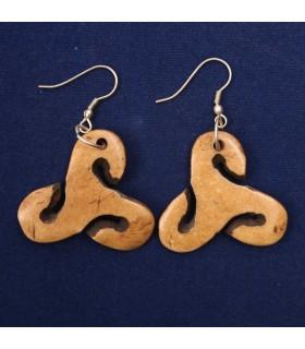 Triskele Buddhist earrings
