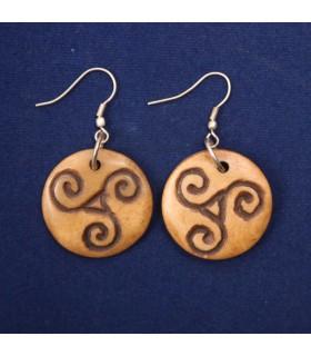 Triskele drop earrings