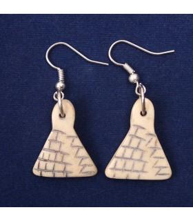 Triangular shaped earrings