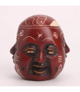 4 FACED RESIN BUDDHA SCULPTURE