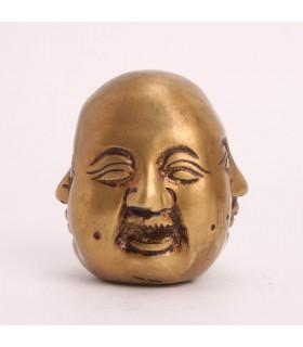 4 FACED BRASS BUDDHA SCULPTURE