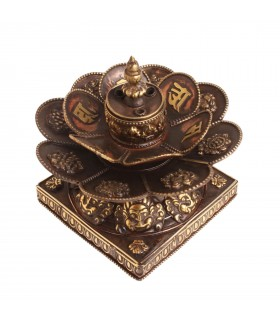 Blooming flower incense sticks holder