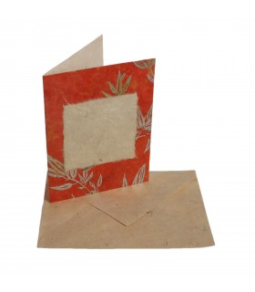 Bamboo leaf greeting card