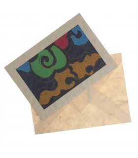 Abstract art lokta paper card