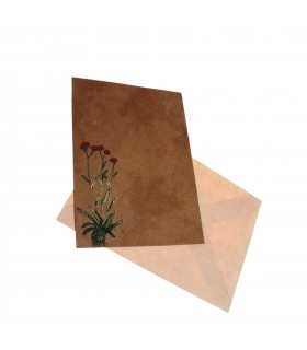 Flower painted greeting card