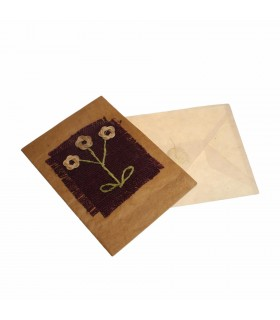 Three flower greeting card