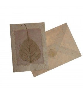 Golden peepal greeting card