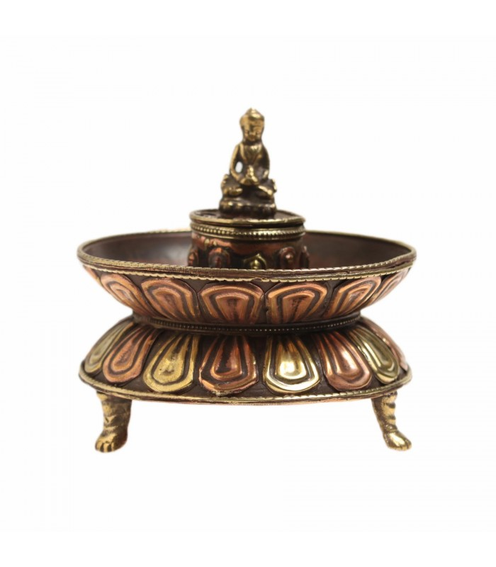 Buddha at rest incense holder