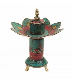 Blooming lotus incense holder