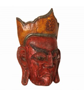 Wooden Buddhist lama mask