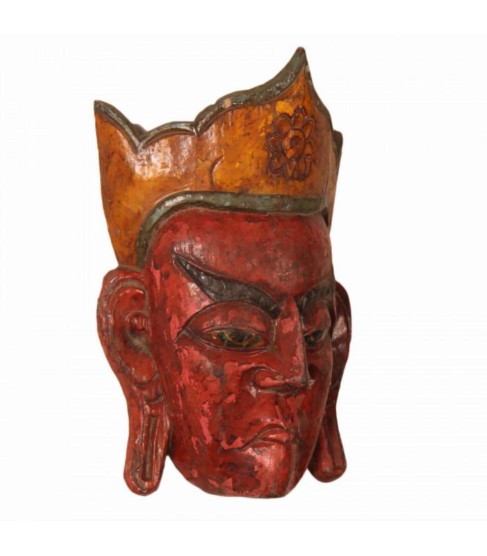 Wooden Buddhist lama mask