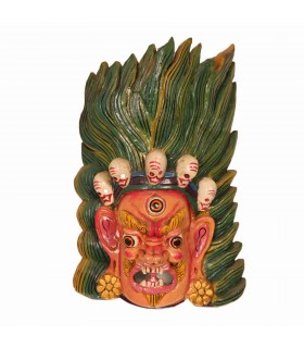 Long haired Bhairav wooden mask