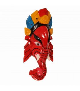 Lord Ganesha Wooden Mask